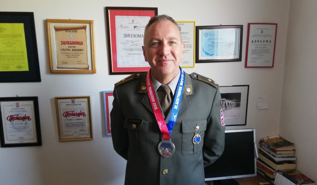 Учешће потпуковника др Милована Суботића на 32. Београдском маратону