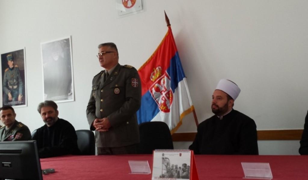 Признање потпуковнику др Миљану Милкићу