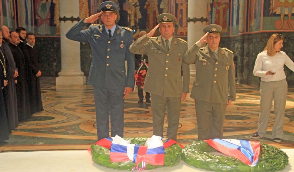 Pripadnici Instituta za strategijska istraživanja na obeležavanju 97 godišnjice od smrti kralja Petra Prvog Karađorđevića