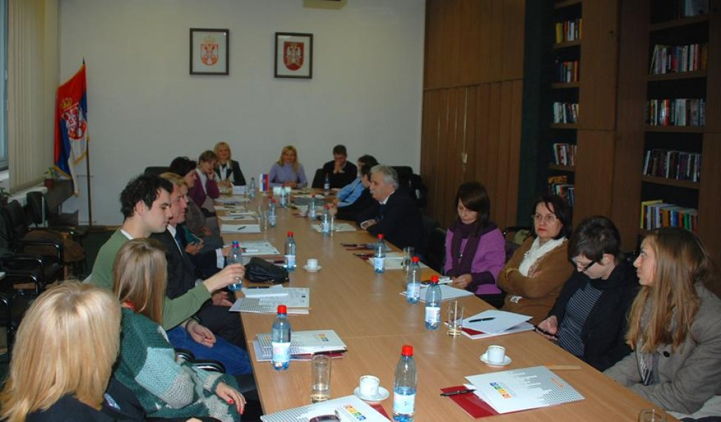 Representatives of the National Assembly of the Republic of Serbia visit the Ministry of Defence