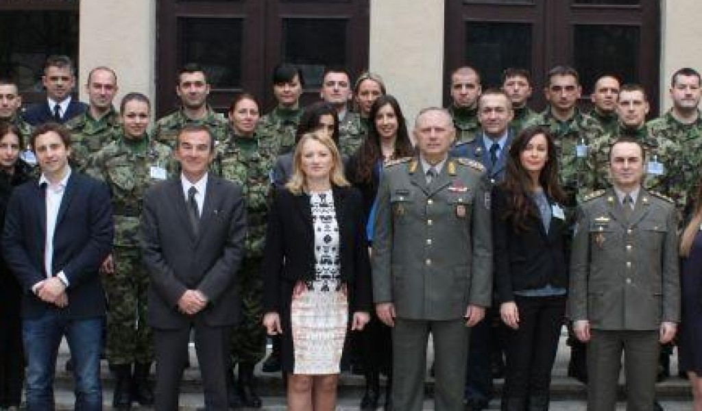 The participation of the Director of the Strategic Research Institute in the meeting of the Head of the General Staff of Serbia General Ljubisa Dikovic with Rana Rahal chief officer for gender equality in the UN mission in Lebanon UNIFIL