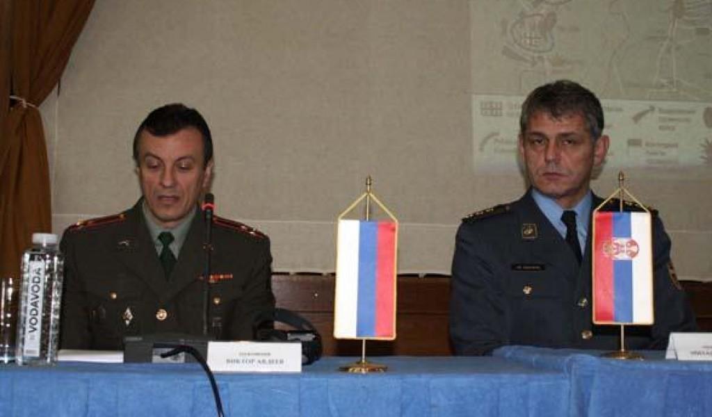 Предавање изасланика одбране Руске Федерације пуковника Авдејева о безбедносној ситуацији на Кавказу