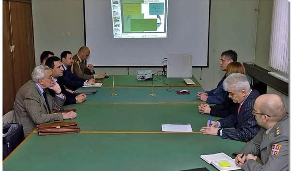 Delegacija Istorijskog odeljenja GŠ Kopnene vojske Republike Italije u ISI