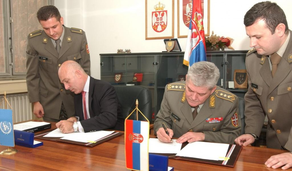 Protocol on Donation between the Serbian MoD and UN Development Program Signed