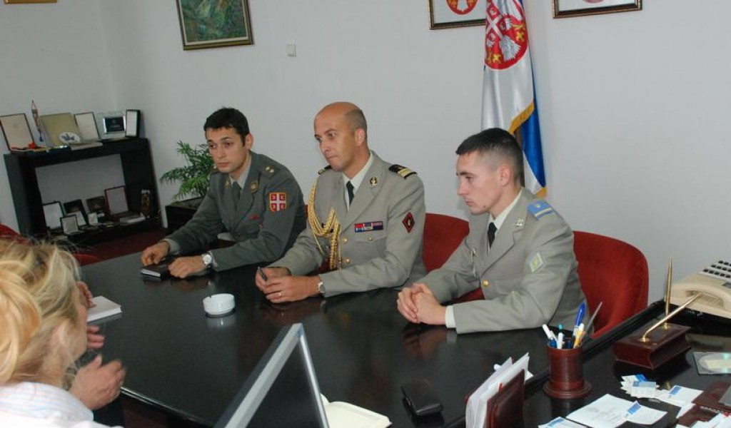 Sub lieutenant Jan Filip Prenan from the French Armed Forces Visited the Strategic Research Institute