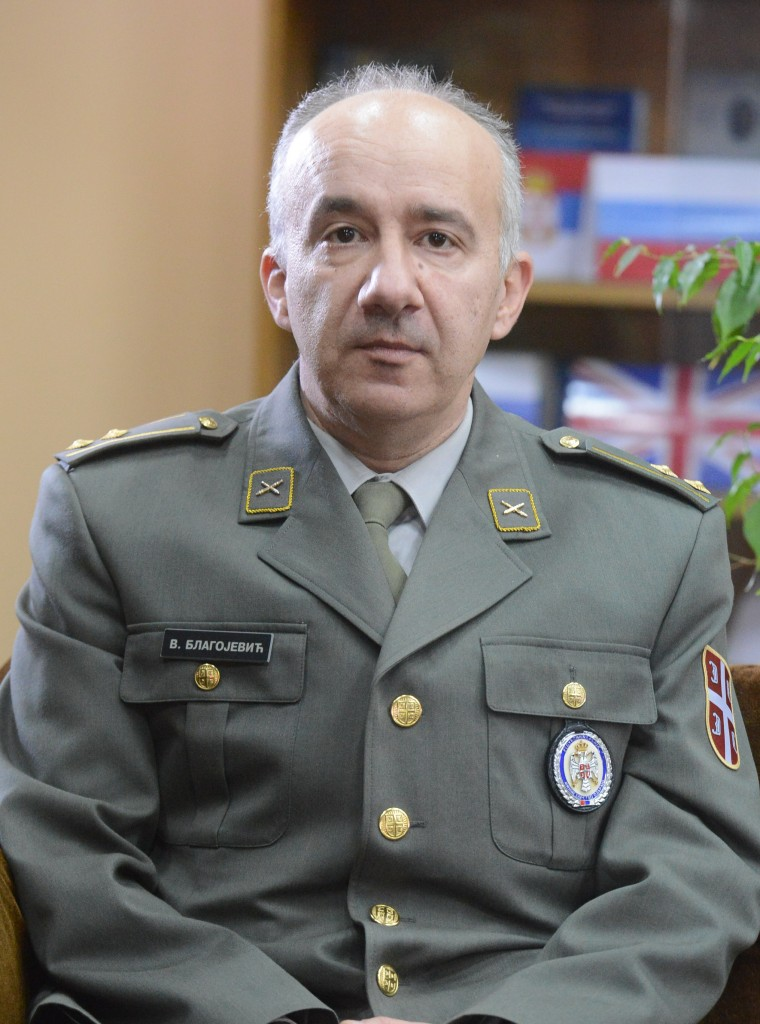 Colonel Veljko Blagojevic PhD Sci