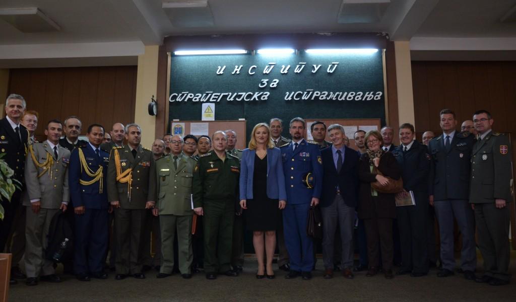 Посета страних војних представника Институту за стратегијска истраживања