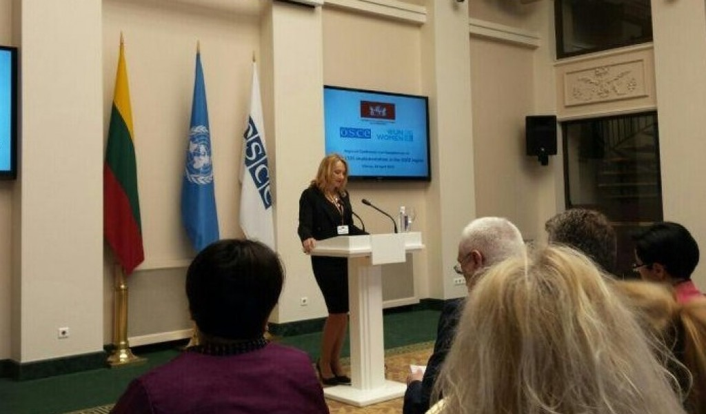 Participation of Director of SRI at a Regional Conference and Consultations on UNSCR 1325 implementation in the OSCE region April 20 2015