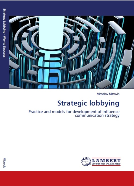 Miroslav Mitrovic Strategic lobbying Lambert Academic Publishing 2017