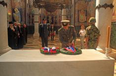 Pripadnici Instituta za strategijska istraživanja na obeležavanju 97. godišnjice od smrti kralja Petra Prvog Karađorđevića