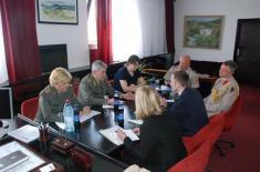 Посета представника Министарства одбране Велике Британије Институту за стратегијска истраживања