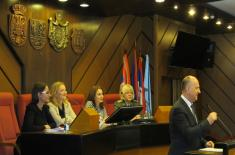 Representatives of the Ministry of Defence at the Panel Discussion on Gender Equality in Novi Sad