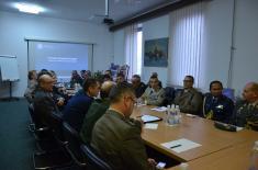 Poseta stranih vojnih predstavnika Institutu za strategijska istraživanja