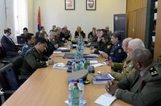 Visit of foreign military representatives accredited to the Republic of Serbia
